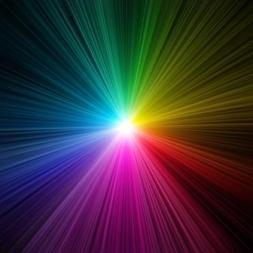 luz colorida